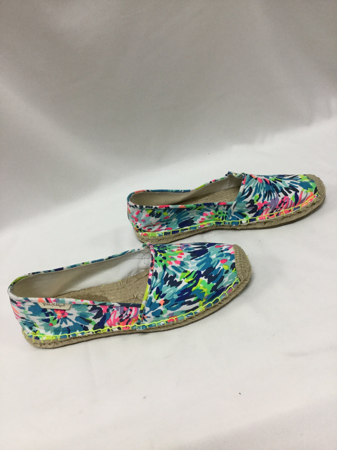 Photo #1 - BRAND: LILLY PULITZER <BR>STYLE: SHOES FLATS <BR>COLOR: BLUE <BR>SIZE: 9 <BR>SKU: 155-155187-24226