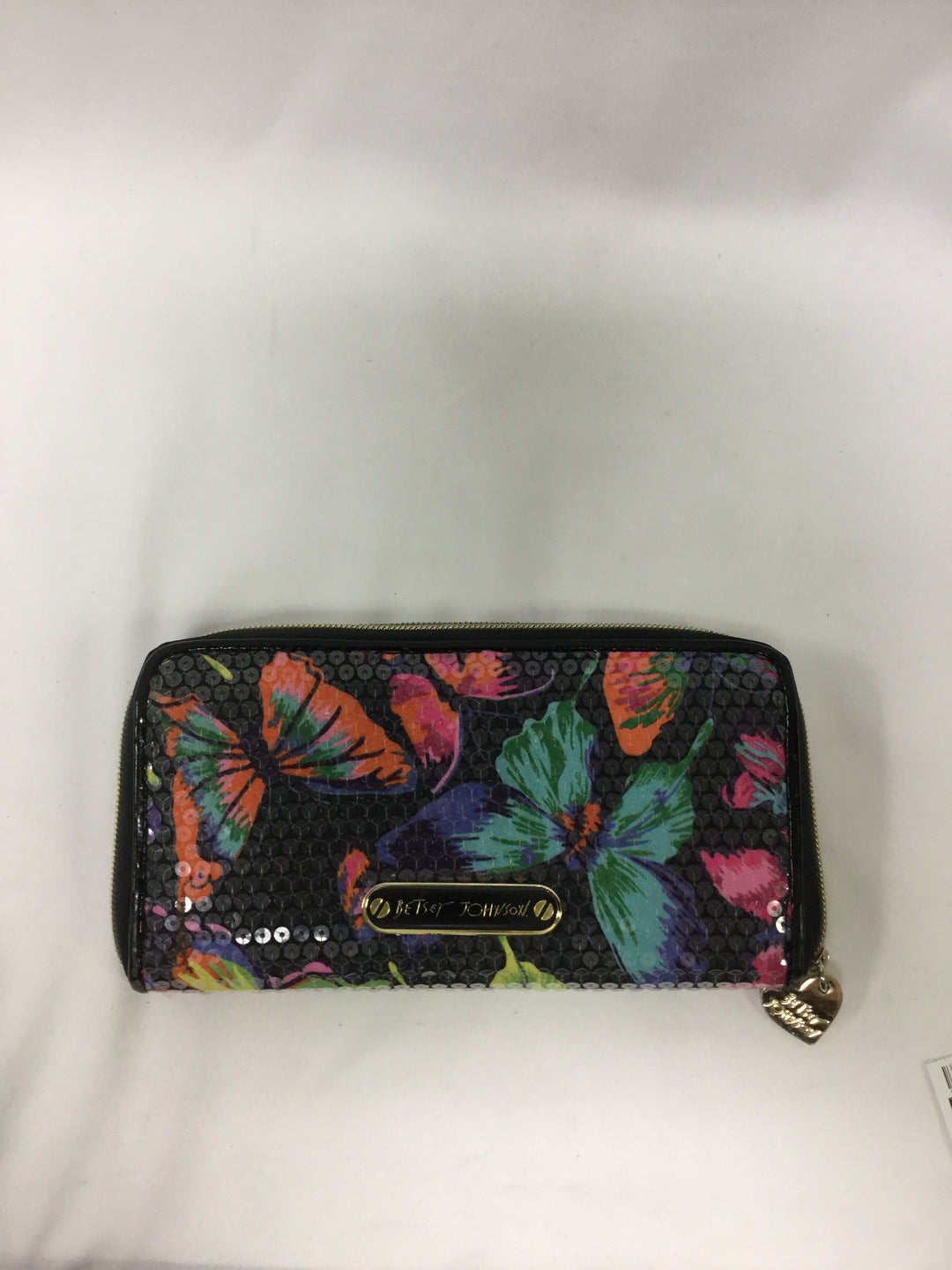 Primary Photo - BRAND: BETSEY JOHNSON <BR>STYLE: WALLET <BR>COLOR: BUTTERFLIES <BR>SIZE: LARGE <BR>SKU: 155-155224-16099
