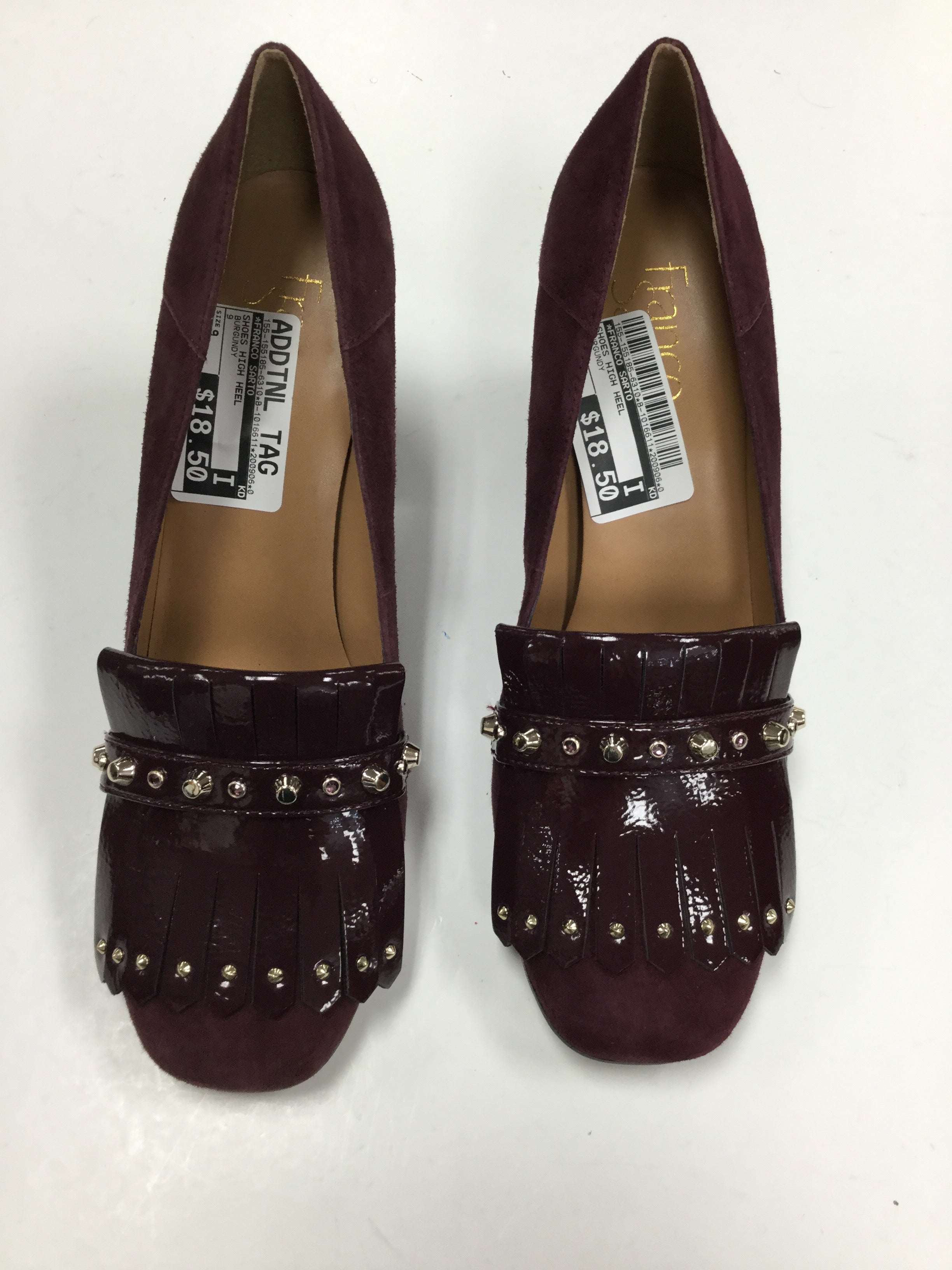 Primary Photo - BRAND: FRANCO SARTO <BR>STYLE: SHOES HIGH HEEL <BR>COLOR: BURGUNDY <BR>SIZE: 9 <BR>SKU: 155-155185-6310