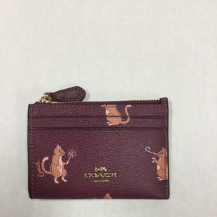 Primary Photo - BRAND: COACH STYLE: COIN PURSE COLOR: BURGUNDY SIZE: SMALL SKU: 155-15599-234915