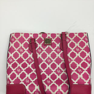 Primary Photo - BRAND: DOONEY AND BOURKE STYLE: HANDBAG DESIGNER COLOR: HOT PINK SIZE: MEDIUM OTHER INFO: NOTED - SOME SMALL STAINS SKU: 155-155224-6141