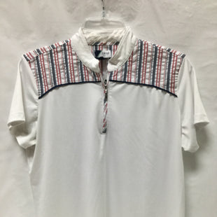 Primary Photo - BRAND: IZOD STYLE: ATHLETIC TOP COLOR: WHITE RED BLUESIZE: L SKU: 155-155227-867