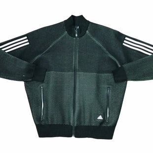 Primary Photo - BRAND: ADIDAS STYLE: ATHLETIC JACKET COLOR: BLACK SIZE: L OTHER INFO: SNAGS NOTED SKU: 155-155245-1654