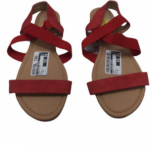 Primary Photo - STYLE: SANDALS FLAT COLOR: RED SIZE: 10 OTHER INFO: FLOOPI - SKU: 155-155224-15668