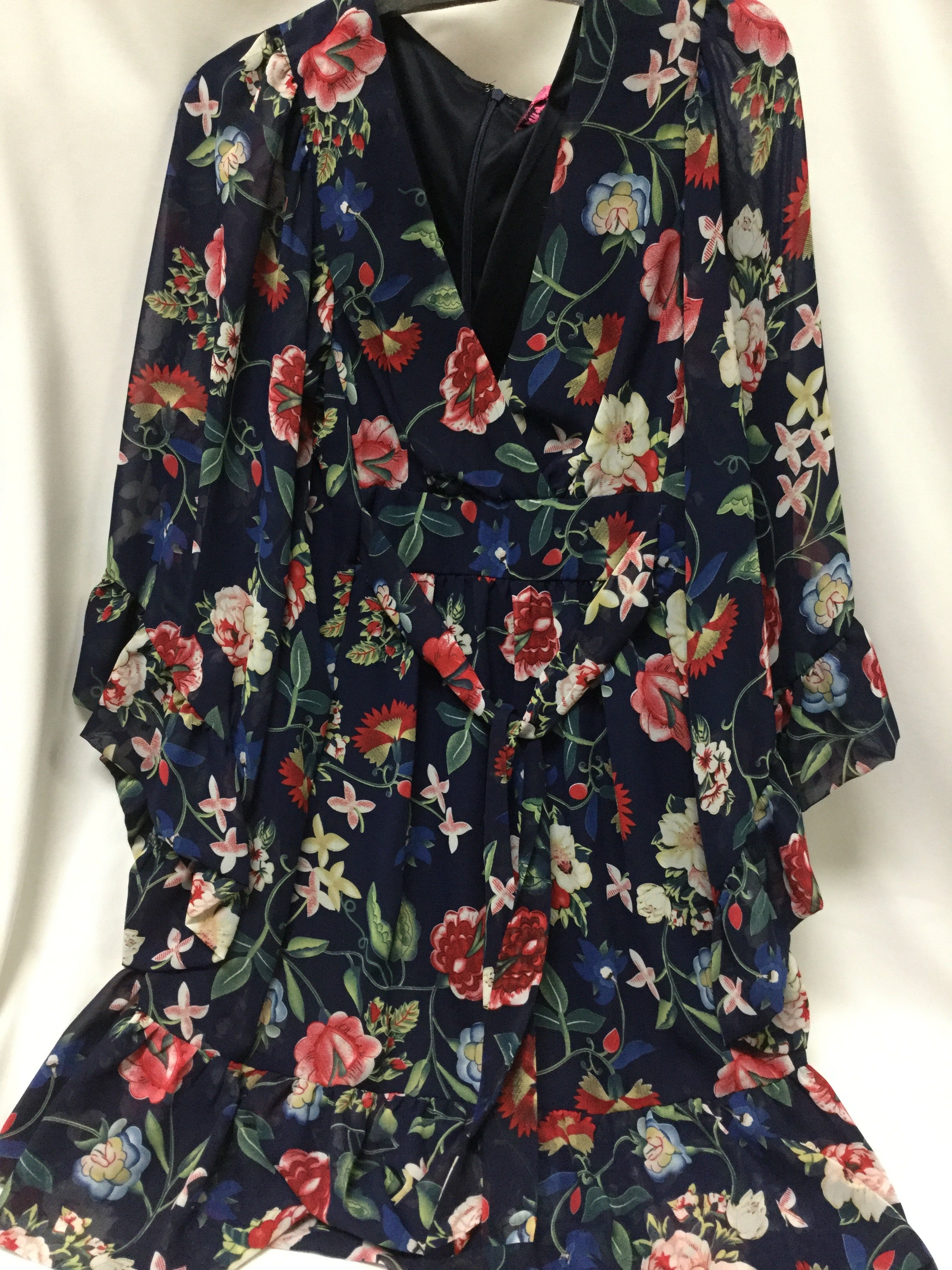 Primary Photo - BRAND: BETSEY JOHNSON <BR>STYLE: DRESS SHORT LONG SLEEVE <BR>COLOR: BLUE <BR>SIZE: M <BR>SKU: 155-155201-18399