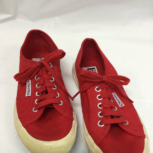 Primary Photo - BRAND: SUPERGA STYLE: SHOES FLATS COLOR: RED SIZE: 7.5 SKU: 155-155224-1778SOME MARKS ON SOLES