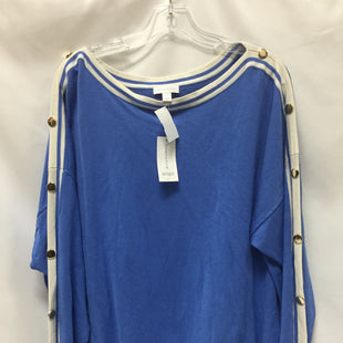 Primary Photo - BRAND: CHARTER CLUB STYLE: TOP LONG SLEEVE COLOR: BLUE SIZE: 3X SKU: 155-155233-245