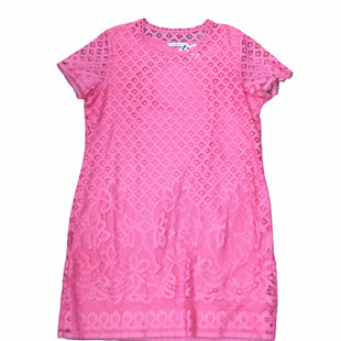 Primary Photo - BRAND: ISAAC MIZRAHI LIVE QVC STYLE: DRESS SHORT SHORT SLEEVE COLOR: PINK SIZE: L SKU: 155-155220-15088