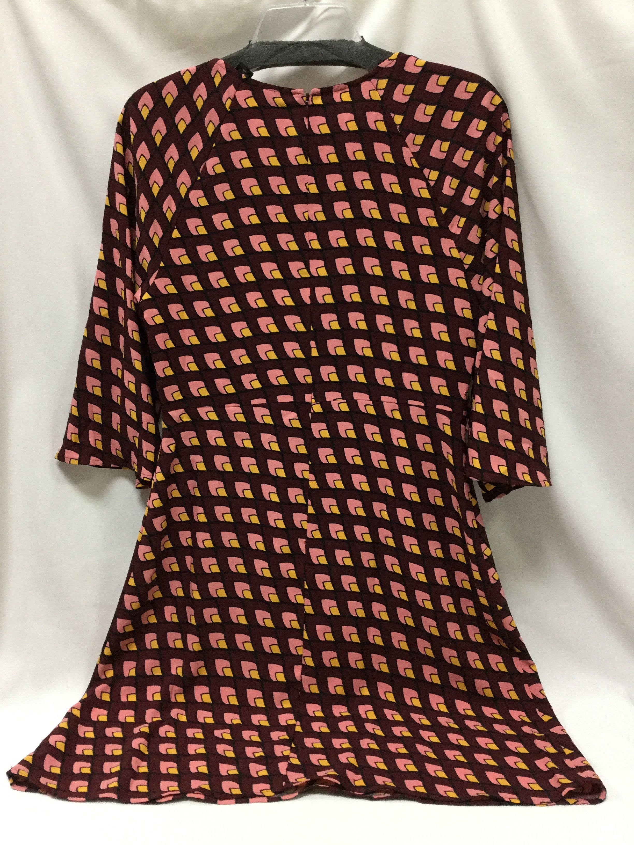 Photo #2 - BRAND: HALOGEN <BR>STYLE: DRESS SHORT LONG SLEEVE <BR>COLOR: BURGUNDY <BR>SIZE: S <BR>SKU: 155-155227-1143