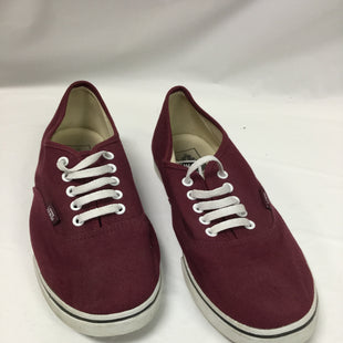 Primary Photo - BRAND: VANS STYLE: SHOES ATHLETIC COLOR: MAROON SIZE: 9.5 SKU: 155-155201-13423
