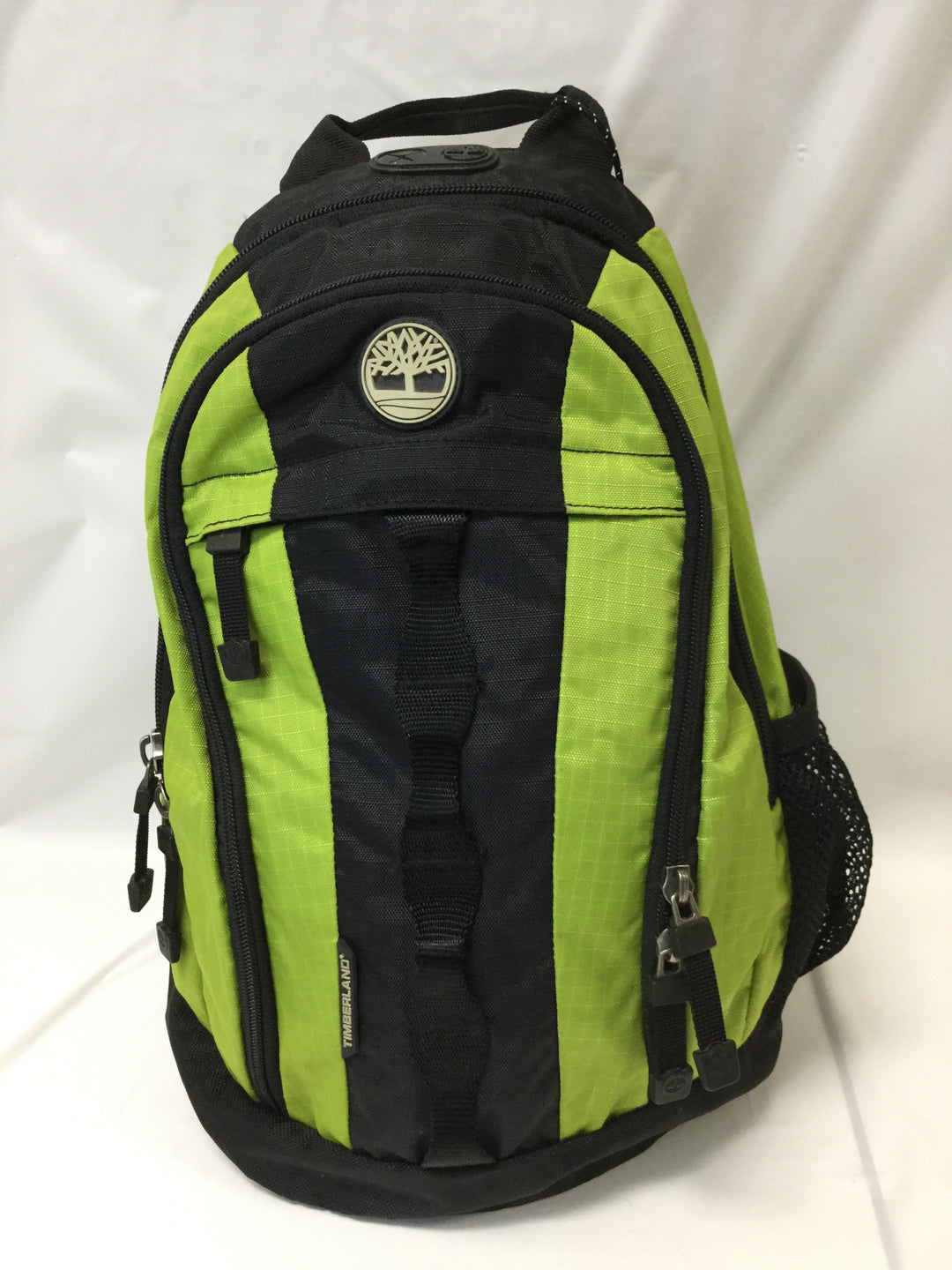 Primary Photo - BRAND: TIMBERLAND <BR>STYLE: BACKPACK <BR>COLOR: GREEN <BR>SIZE: SMALL <BR>SKU: 155-155224-1406<BR>LIME GREEN NYLON/BLACK <BR>BODY APPROX.18'/ADJUSTABLE STRAP<BR>