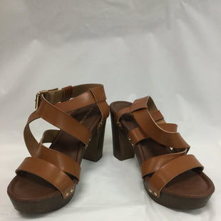 Primary Photo - BRAND: LANE BRYANT STYLE: SANDALS HIGH COLOR: BROWN SIZE: 10 SKU: 155-155220-1072