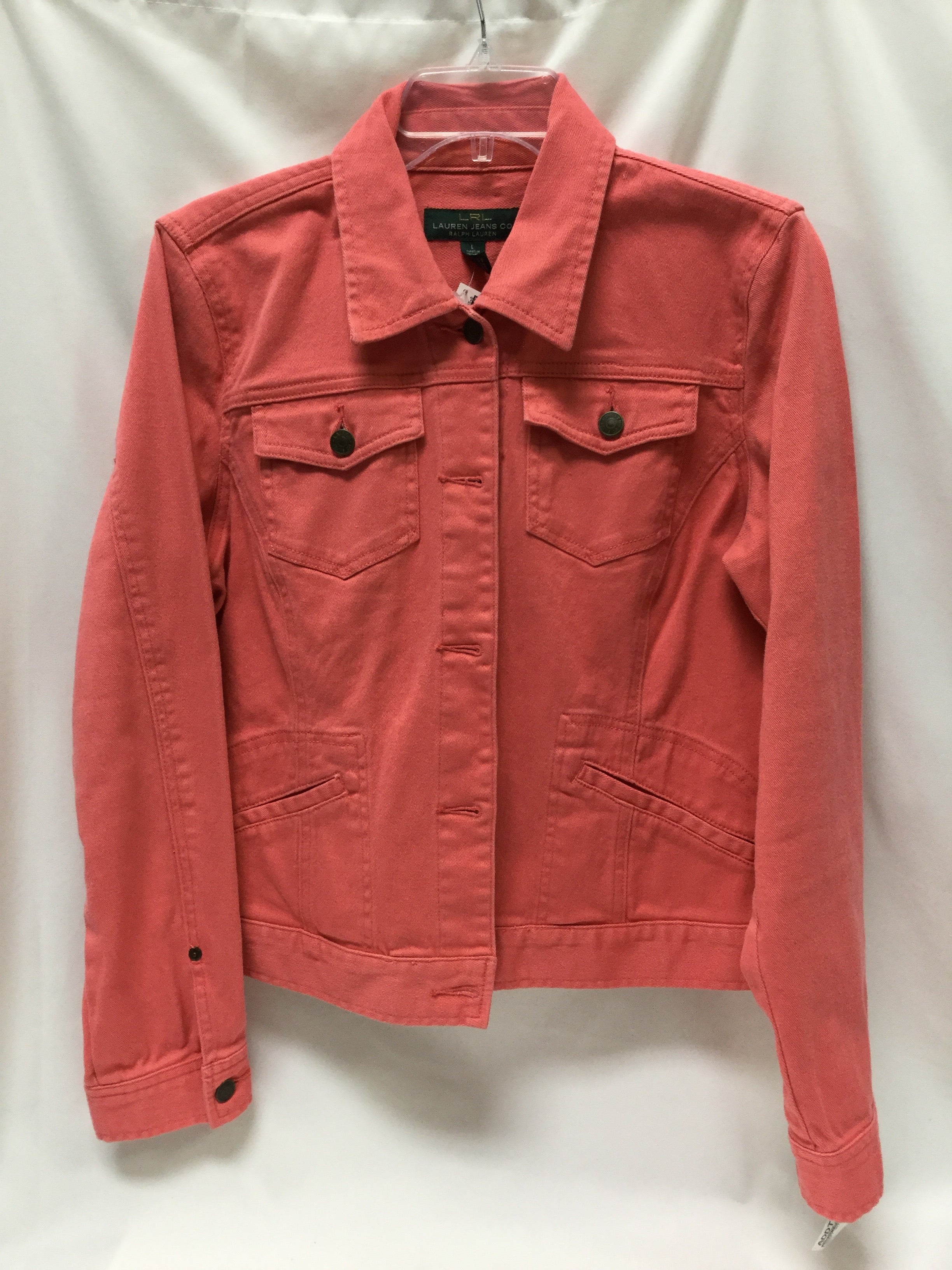 Primary Photo - BRAND: RALPH LAUREN <BR>STYLE: JACKET OUTDOOR <BR>COLOR: CORAL <BR>SIZE: L <BR>SKU: 155-155220-3859