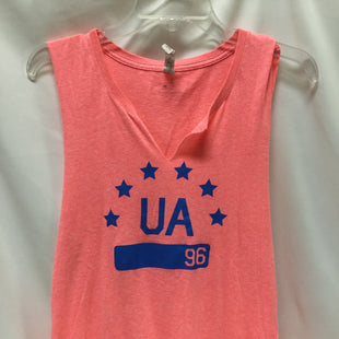 Primary Photo - BRAND: UNDER ARMOUR STYLE: ATHLETIC TANK TOP COLOR: NEON SIZE: M SKU: 155-155187-24275