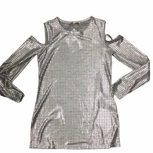 Primary Photo - BRAND: MICHAEL BY MICHAEL KORS STYLE: TOP LONG SLEEVE COLOR: SILVER SIZE: S SKU: 155-155130-217165