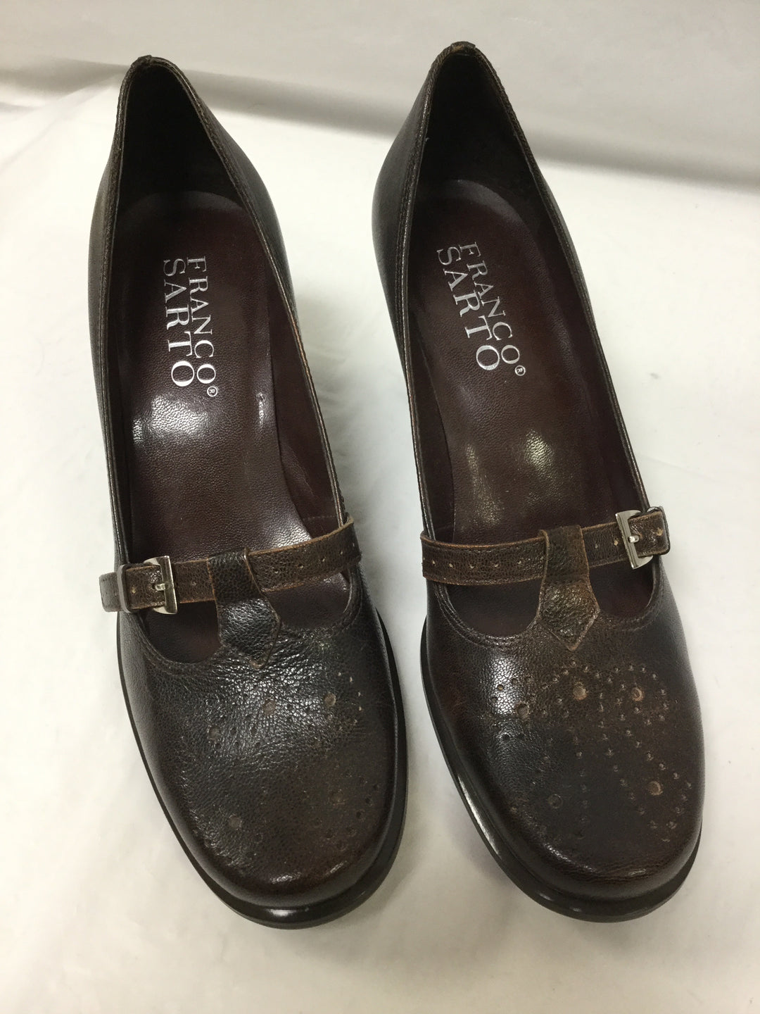 Primary Photo - BRAND: FRANCO SARTO <BR>STYLE: SHOES HIGH HEEL <BR>COLOR: BROWN <BR>SIZE: 7.5 <BR>OTHER INFO: SMALL SCUFF ON BACK <BR>SKU: 155-155224-6473