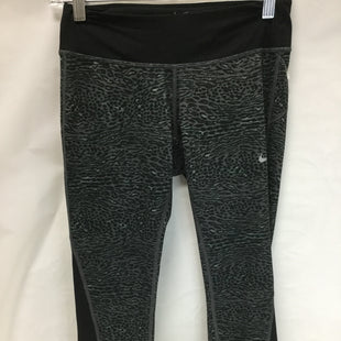 Primary Photo - BRAND: NIKE APPAREL STYLE: ATHLETIC CAPRIS COLOR: MULTI SIZE: S SKU: 155-155178-9860GREY AND BLACK LEOPARD PRINT