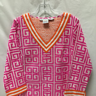 Primary Photo - BRAND: GRETCHEN SCOTT STYLE: TOP LONG SLEEVE COLOR: HOT PINK SIZE: L OTHER INFO: ORANGE TRIM SKU: 155-155130-206142