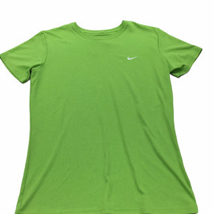 Primary Photo - BRAND: NIKE APPAREL STYLE: ATHLETIC TOP SHORT SLEEVE COLOR: LIME GREEN SIZE: L SKU: 155-155130-219346