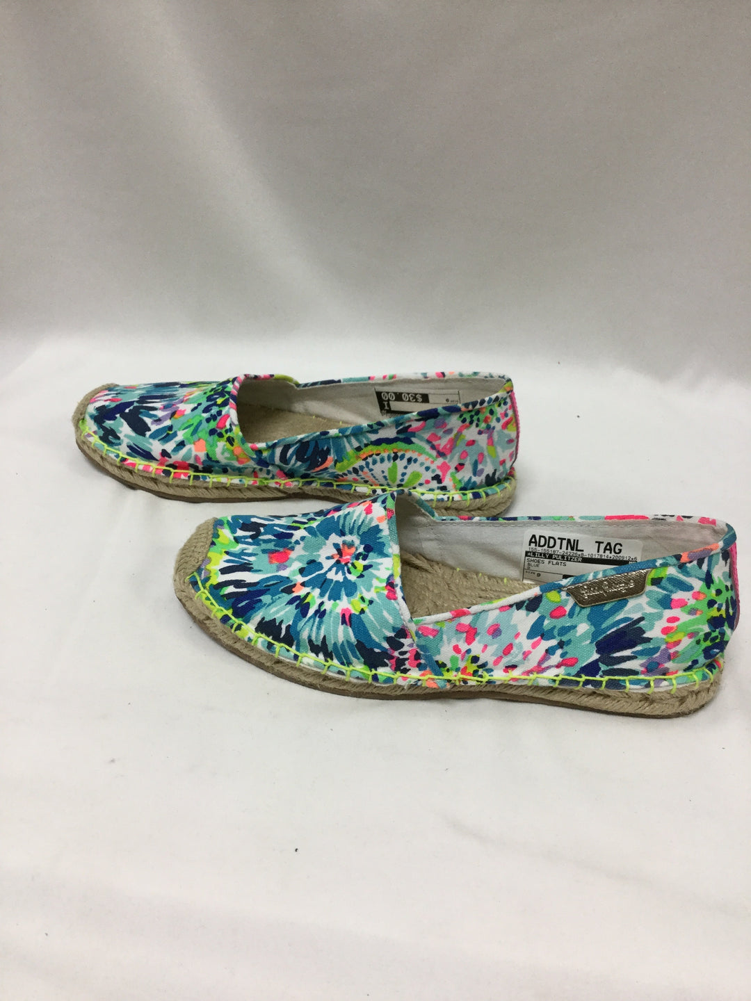 Photo #3 - BRAND: LILLY PULITZER <BR>STYLE: SHOES FLATS <BR>COLOR: BLUE <BR>SIZE: 9 <BR>SKU: 155-155187-24226