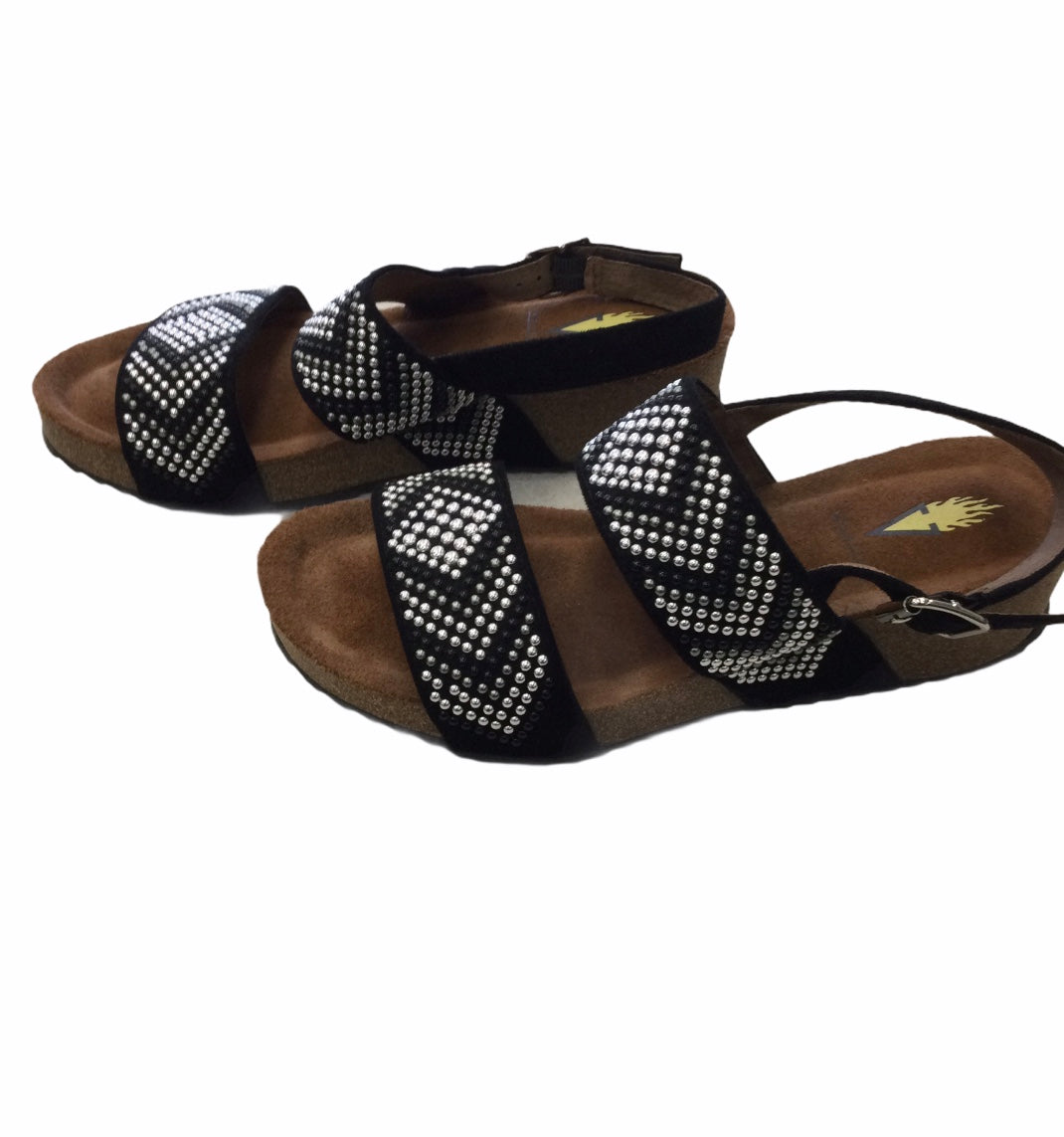 Photo #1 - BRAND: VOLATILE <BR>STYLE: SANDALS LOW <BR>COLOR: BLACK <BR>SIZE: 6 <BR>SKU: 155-15599-243653