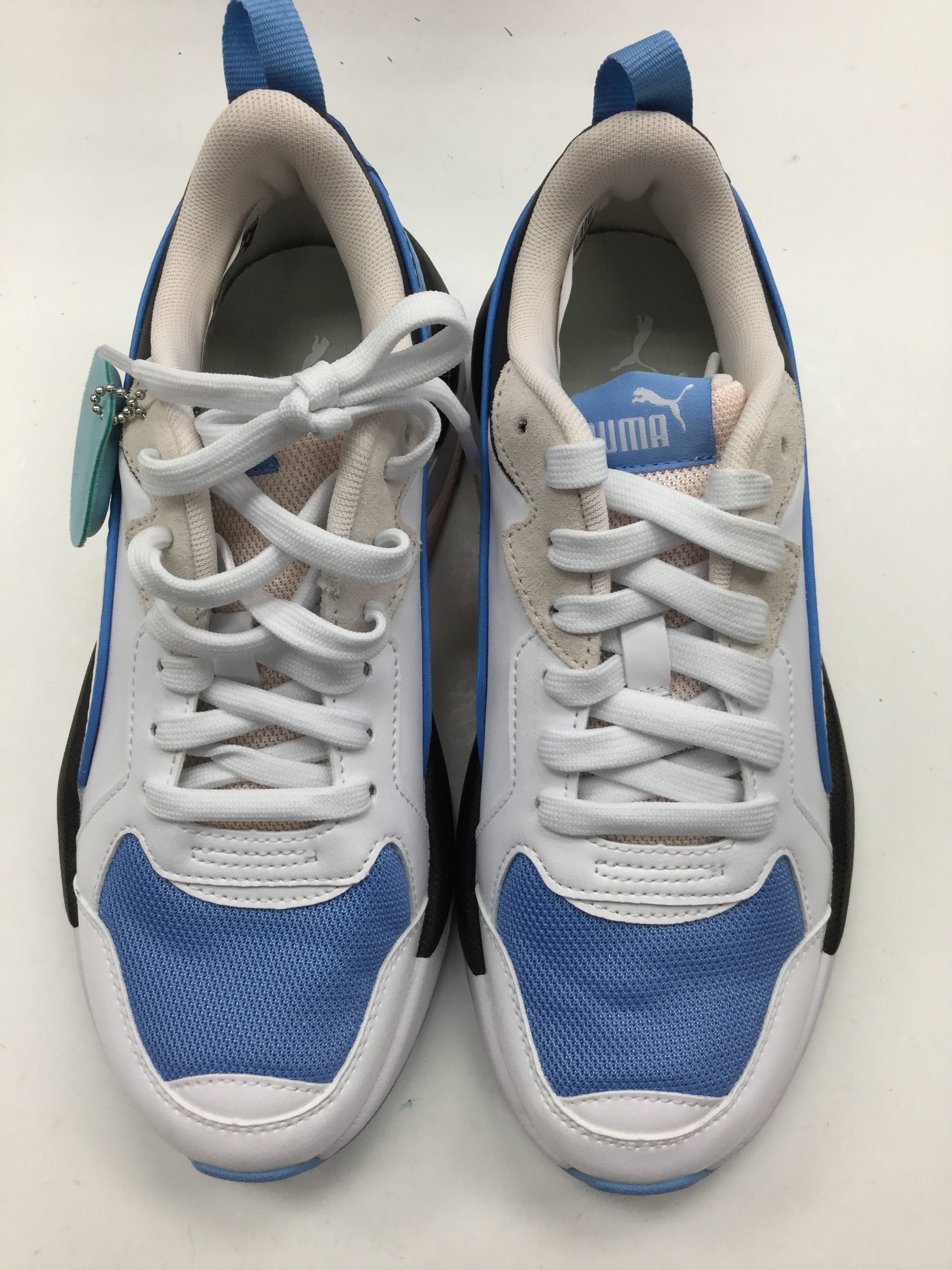 Primary Photo - BRAND: PUMA <BR>STYLE: SHOES ATHLETIC <BR>COLOR: BLUE <BR>SIZE: 7.5 <BR>SKU: 155-15599-232961<BR>POWDER BLUE, PALE PINK, AND BLACK.