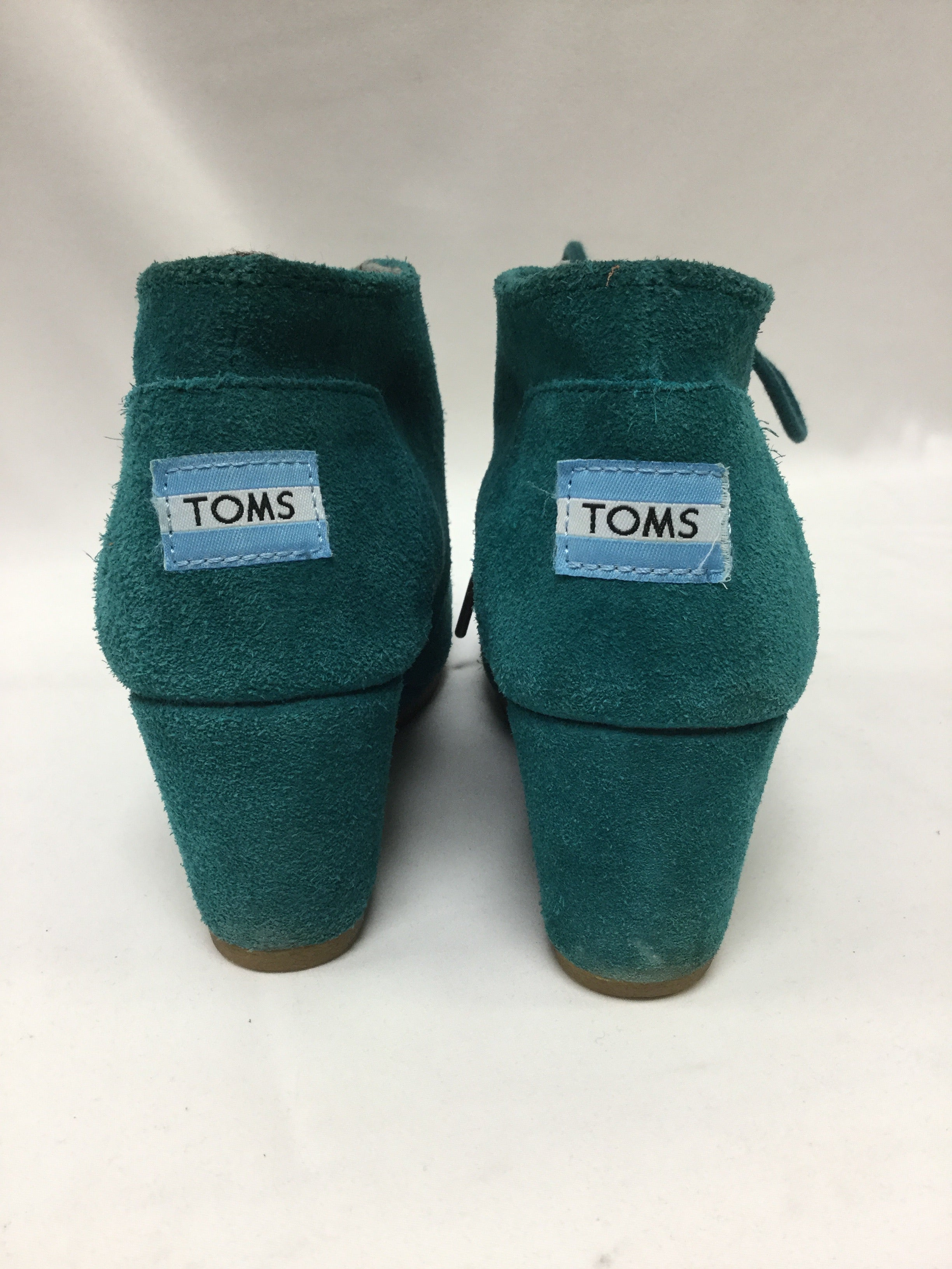 Photo #2 - BRAND: TOMS <BR>STYLE: SHOES HIGH HEEL <BR>COLOR: TURQUOISE <BR>SIZE: 6 <BR>SKU: 155-155224-14052