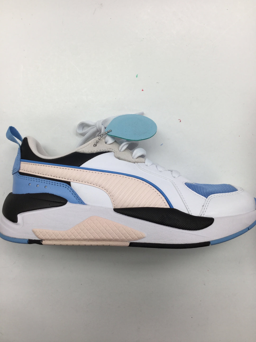 Photo #1 - BRAND: PUMA <BR>STYLE: SHOES ATHLETIC <BR>COLOR: BLUE <BR>SIZE: 7.5 <BR>SKU: 155-15599-232961<BR>POWDER BLUE, PALE PINK, AND BLACK.