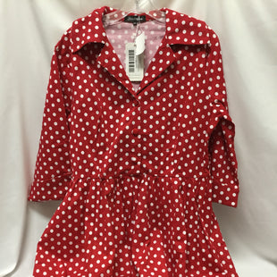 Primary Photo - BRAND:    CLOTHES MENTOR STYLE: DRESS SHORT LONG SLEEVE COLOR: POLKADOT SIZE: L/14OTHER INFO: NEW! SKU: 155-155185-6990TAG SAYS FITS US 14