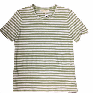Primary Photo - BRAND: MICHAEL BY MICHAEL KORS STYLE: TOP SHORT SLEEVE BASIC COLOR: STRIPED SAGE AND WHITESIZE: XS SKU: 155-155130-217168