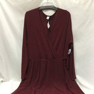 Primary Photo - BRAND: OLD NAVY STYLE: DRESS SHORT LONG SLEEVE COLOR: MAROON SIZE: 3X SKU: 155-155220-5813