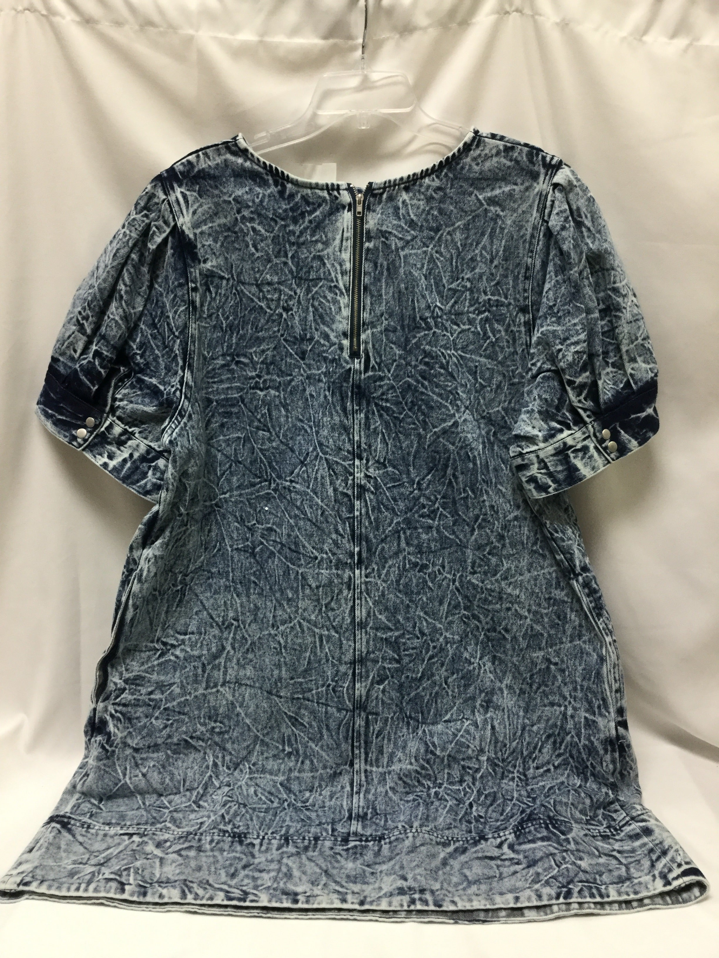 Photo #1 - BRAND: WHO WHAT WEAR <BR>STYLE: DRESS SHORT LONG SLEEVE <BR>COLOR: DENIM <BR>SIZE: 1X <BR>SKU: 155-15545-207562