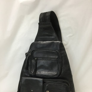 Primary Photo - BRAND: RACHEL ROY STYLE: BACKPACK COLOR: BLACK SIZE: SMALL OTHER INFO: NOTED SKU: 155-155201-9164BLACK LEATHER/ZIPPERED ADJUSTABLE STRAPDIMENSIONS APPROX. 20X14'
