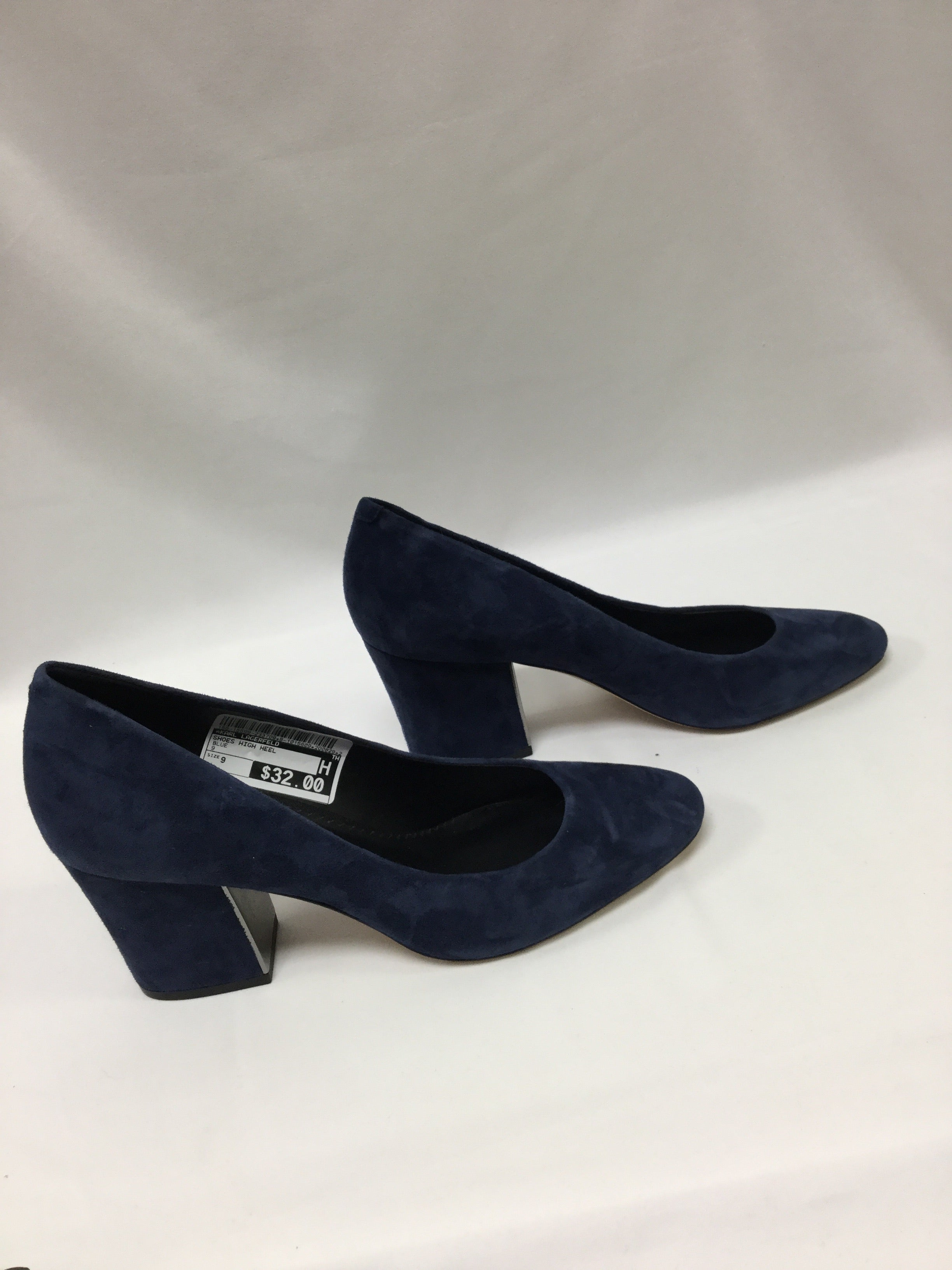 Photo #1 - BRAND: KARL LAGERFELD <BR>STYLE: SHOES HIGH HEEL <BR>COLOR: BLUE <BR>SIZE: 9 <BR>SKU: 155-15599-233708