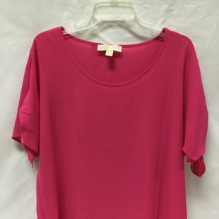 Primary Photo - BRAND: MICHAEL BY MICHAEL KORS STYLE: TOP SHORT SLEEVE COLOR: HOT PINK SIZE: M SKU: 155-155224-5184