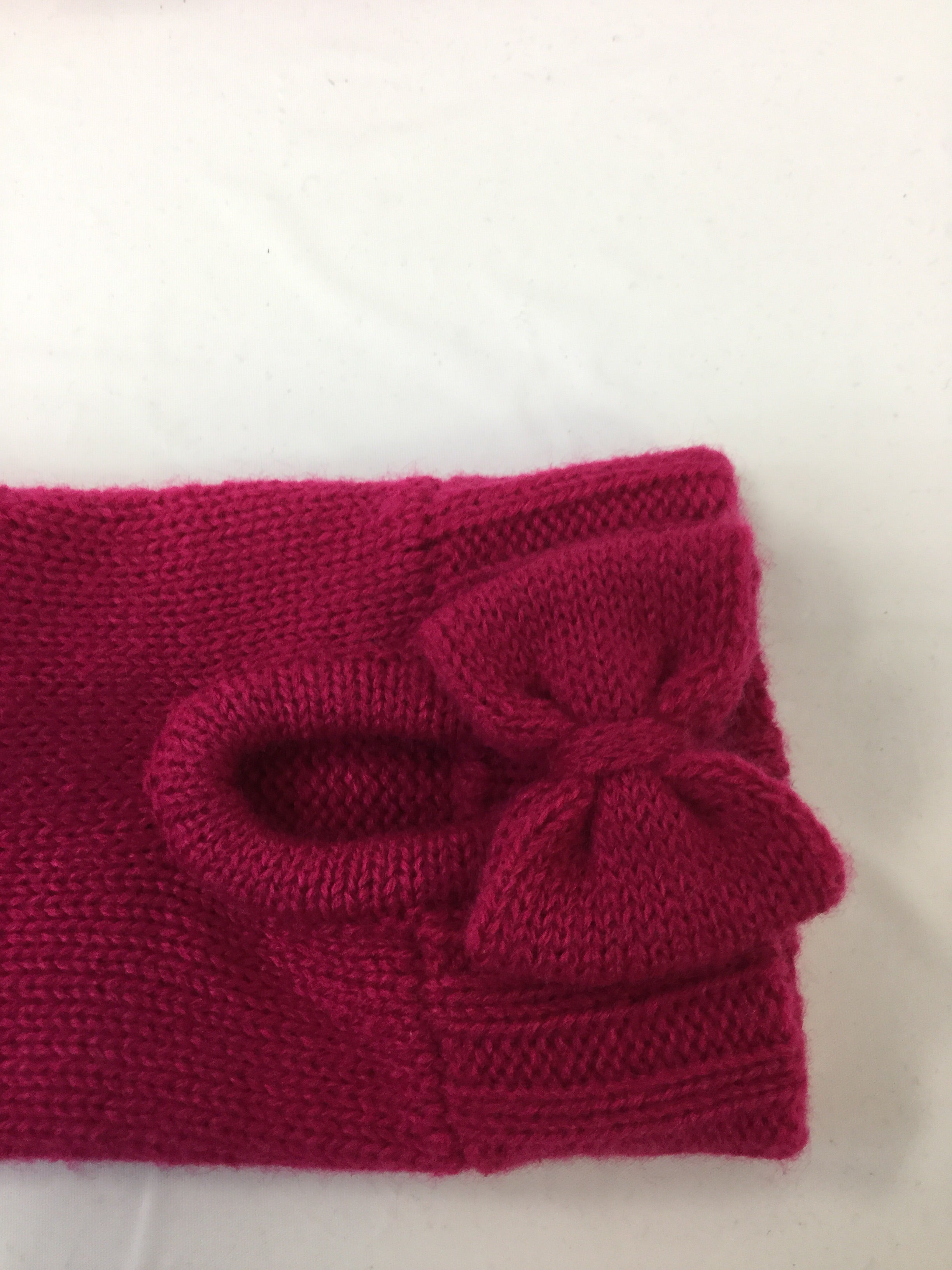 Photo #2 - BRAND: KATE SPADE <BR>STYLE: HAT <BR>COLOR: HOT PINK <BR>OTHER INFO: WITH GLOVES <BR>SKU: 155-15545-200349<BR>BOW TRIM FEATURE ON HAT AND GLOVES<BR>GREY TIP TRIM ON GLOVES<BR>EXCELLENT CONDITION <BR>