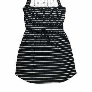 Primary Photo - BRAND: ADRIENNE VITTADINI STYLE: DRESS SHORT SLEEVELESS COLOR: BLACK WHITE SIZE: L SKU: 155-155130-208393