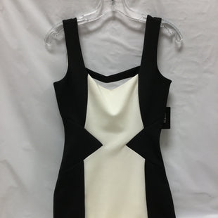 Primary Photo - BRAND: GUESS STYLE: DRESS SHORT SLEEVELESS COLOR: CREAM BLACK SIZE: S SKU: 155-155227-1340