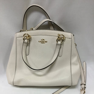 Primary Photo - BRAND: COACH STYLE: HANDBAG DESIGNER COLOR: CREAM SIZE: MEDIUM SKU: 155-155187-24035