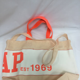 Primary Photo - BRAND: GAP STYLE: TOTE COLOR: TAN, WHITE, NEON ORANGE SIZE: MEDIUM SKU: 155-15599-228322