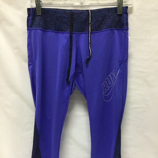 Primary Photo - BRAND: NIKE APPAREL STYLE: ATHLETIC CAPRIS COLOR: BLUE SIZE: 0 SKU: 155-155190-1859