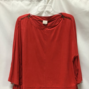 Primary Photo - BRAND: CHICOS STYLE: TOP LONG SLEEVE COLOR: ORANGE SIZE: M SKU: 155-155215-3984