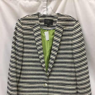 Primary Photo - BRAND: COLE-HAAN STYLE: BLAZER JACKET COLOR: BLUE IVORYSIZE: S SKU: 155-155185-6832