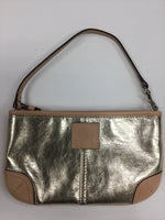 Primary Photo - BRAND: COACH O <BR>STYLE: WRISTLET <BR>COLOR: GOLD <BR>SKU: 155-155183-7394<BR>GOLD METALLIC AND BEIGE