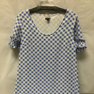 Primary Photo - BRAND: ANN TAYLOR STYLE: DRESS SHORT SHORT SLEEVE COLOR: BLUE WHITE SIZE: M SKU: 155-155201-14108