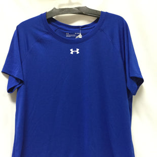 Primary Photo - BRAND: UNDER ARMOUR STYLE: ATHLETIC TOP COLOR: BLUE SIZE: XL SKU: 155-155226-428