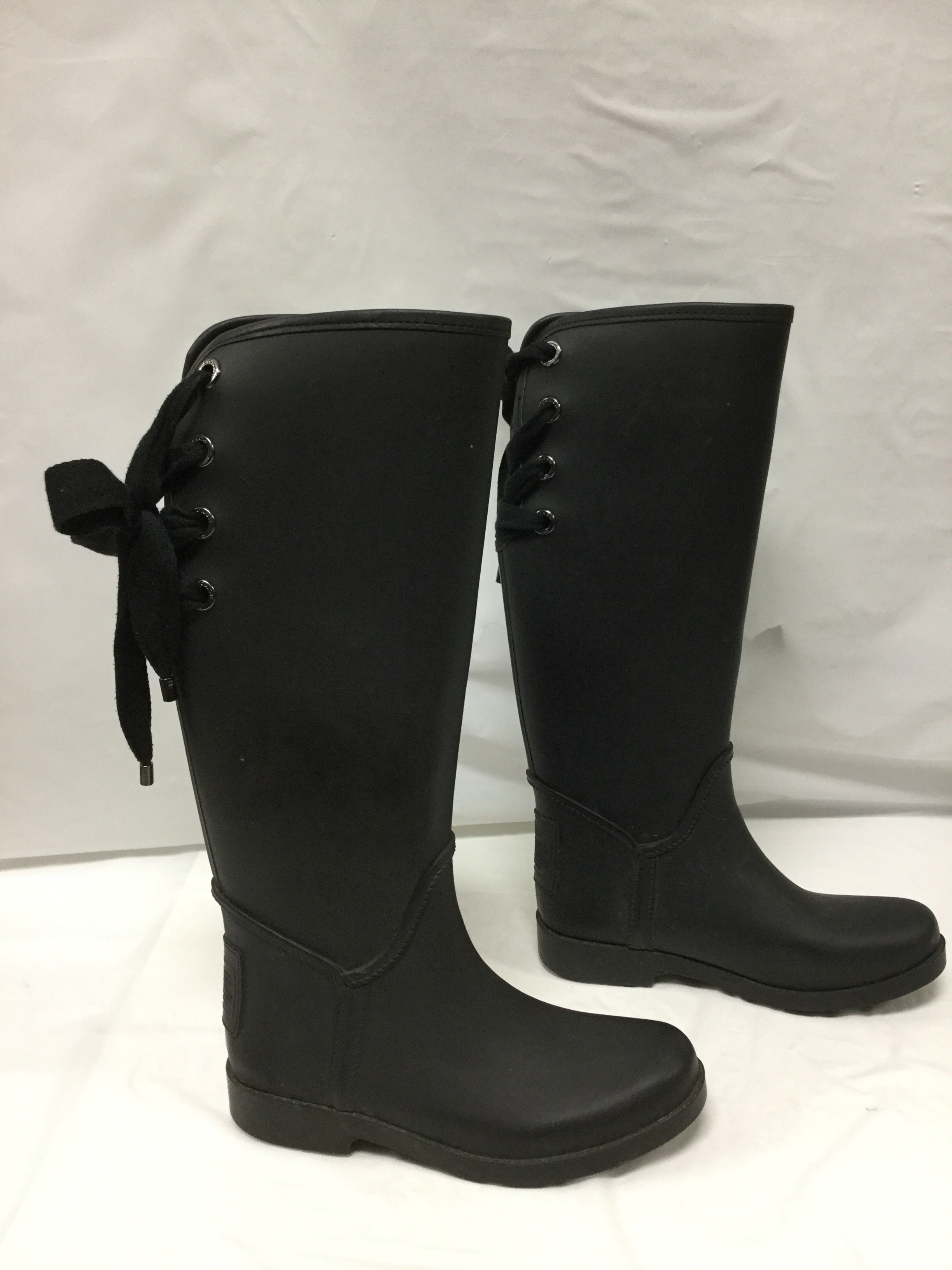 Photo #1 - BRAND: COACH <BR>STYLE: BOOTS RAIN <BR>COLOR: BLACK <BR>SIZE: 6 <BR>OTHER INFO: SLIGHT WEAR NOTED <BR>SKU: 155-155130-204966