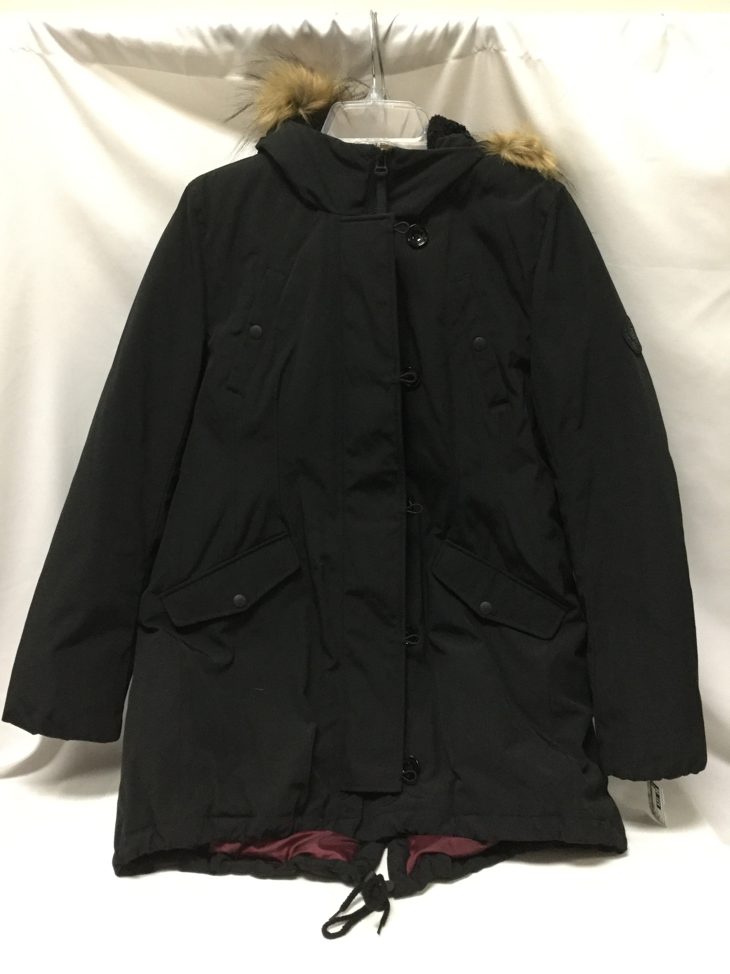 Primary Photo - BRAND: TOMMY HILFIGER <BR>STYLE: COAT SHORT <BR>COLOR: BLACK <BR>SIZE: L <BR>SKU: 155-155224-13767