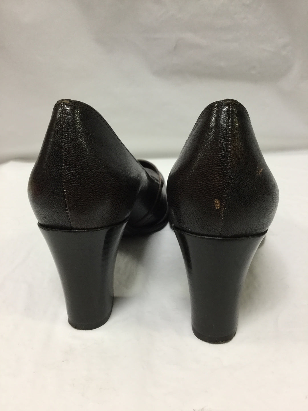 Photo #2 - BRAND: FRANCO SARTO <BR>STYLE: SHOES HIGH HEEL <BR>COLOR: BROWN <BR>SIZE: 7.5 <BR>OTHER INFO: SMALL SCUFF ON BACK <BR>SKU: 155-155224-6473