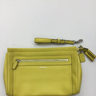 Primary Photo - BRAND: COACH STYLE: WRISTLET COLOR: YELLOW SKU: 155-155201-13170